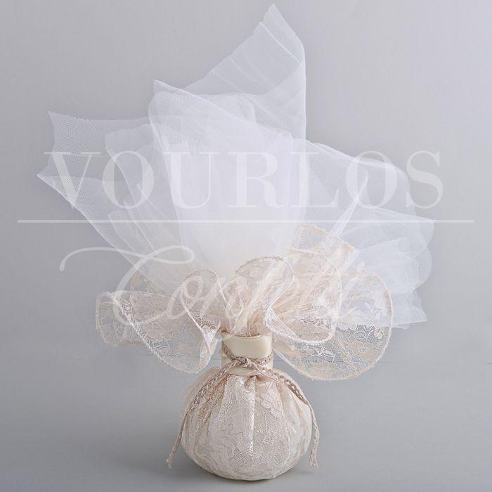 Μπομπονιέρες Γάμου Υφασμάτινες   VOURLOS CONFETTI   Γάμος & Βάπτιση   Μπομπονιέρες - Προσκλητήρια - Κουφέτα