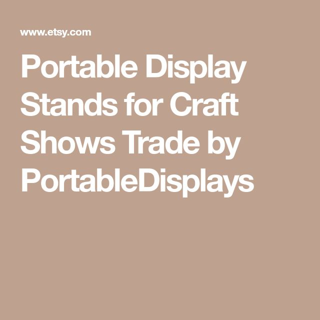 Portable Display Stands for Craft Shows Trade by PortableDisplays