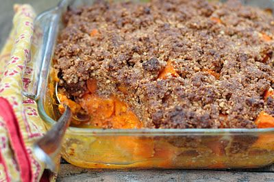 The Whole Life Nutrition Kitchen: Yam Casserole with Pecan Streusel Topping (Grain-Free). ☀CQ #GF #glutenfree