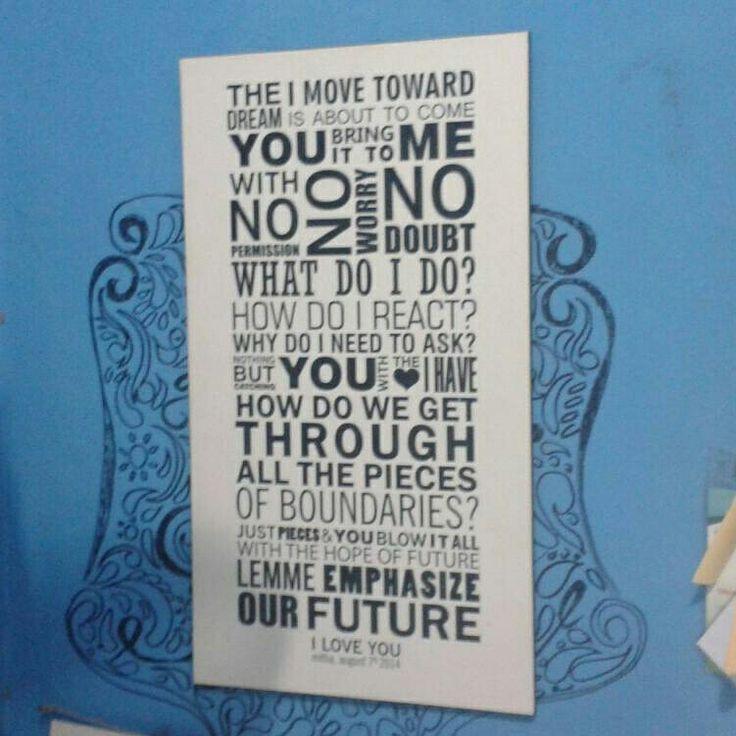 Love letter block wallart #sukunstudio