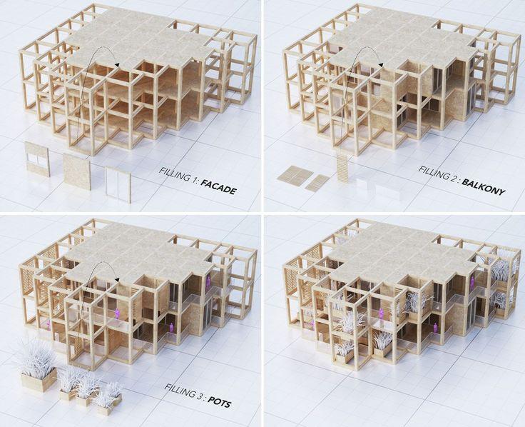 penda diseña edificio con viviendas modulares (y personalizables) en India,© penda