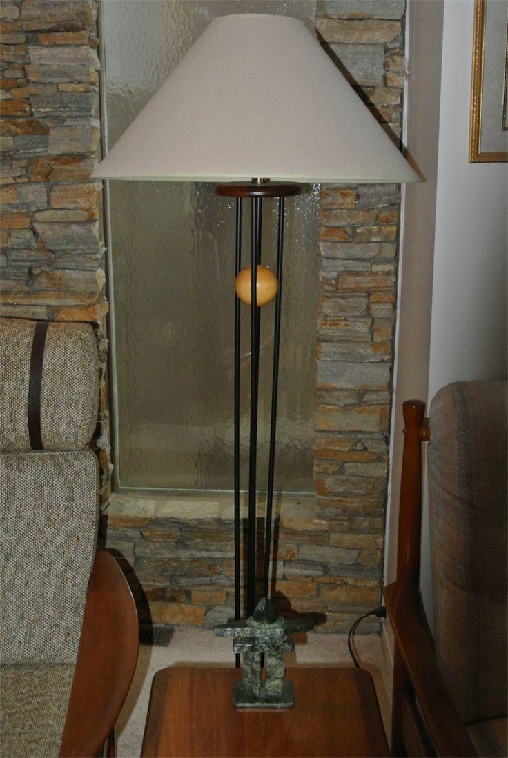 1980s Teak Scandinavian style Lamp