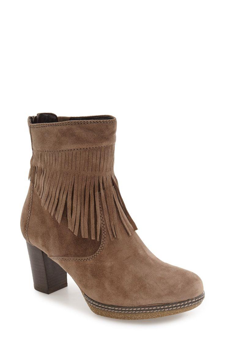 New Gabor Fringe Bootie (Women) fashion online. [$234.95]@shop.swwshoes<<