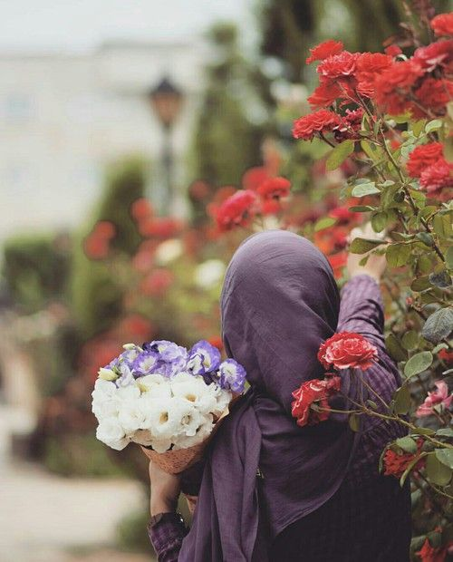 รูปภาพ allah, flower, and hijab