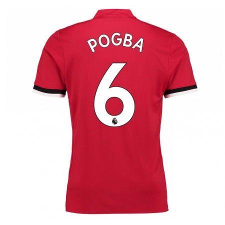 Manchester United Paul Pogba 6 Hjemmebanetrøje 17-18 Kort ærmer  #Billige Fodboldtrøjer