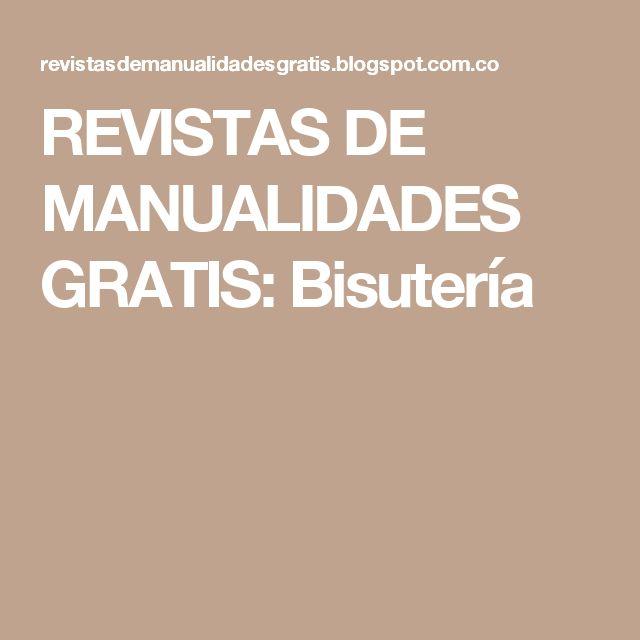 REVISTAS DE MANUALIDADES GRATIS: Bisutería