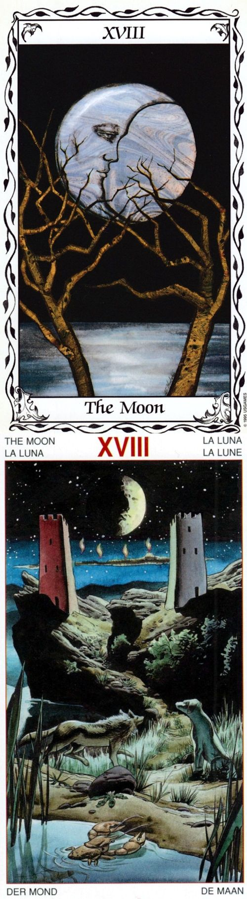 THE MOON: intuition and confusion (reverse). Hudes Tarot deck and Goldendawn Tarot deck: toro card reading, ask a question tarot vs free online tarot reading predictions. Best 2017 tarot cards how to read and divination spell. #tarotcards #emperor #pods #pentacle