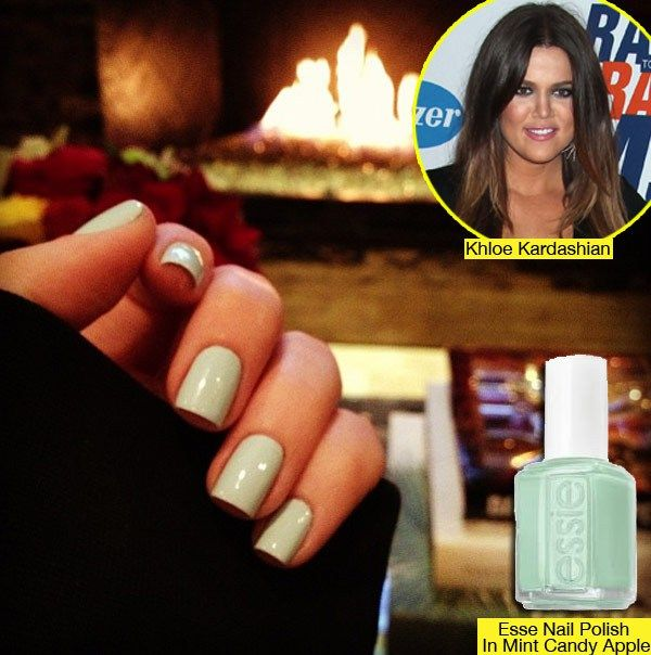 Khloe Kardashian Nails | Khloe Kardashian Nails – Get Her Mint Green Manicure - Hollywood ...