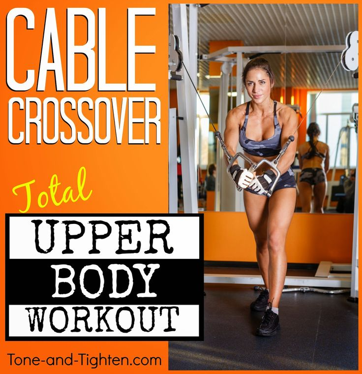 Best complete cable crossover workout for your upper body! 4 circuits for a complete workout from Tone-and-Tighten.com #workout #fitness