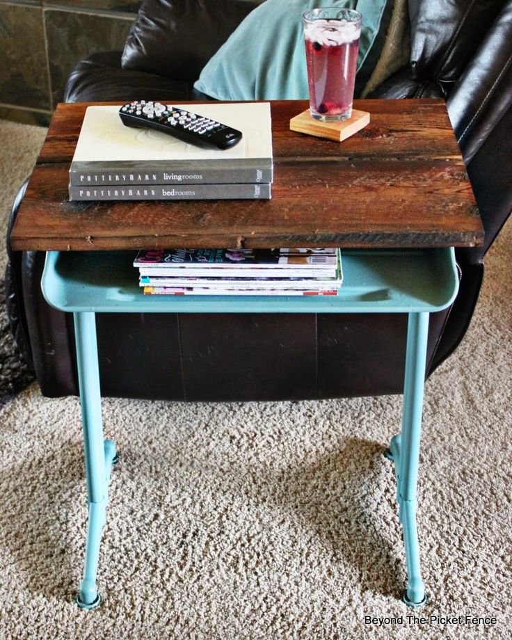 School Desk Makeover, http://bec4-beyondthepicketfence.blogspot.com/2015/04/project-challenge-furniture-school-desk.html