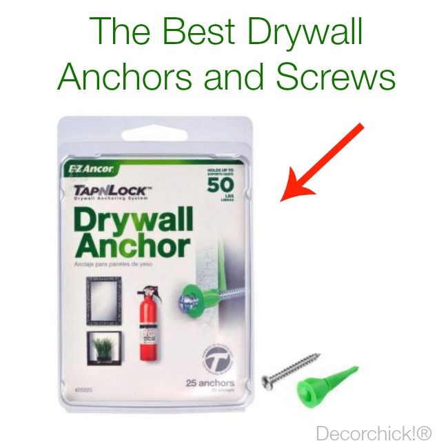 The Best Drywall Anchors and Screws