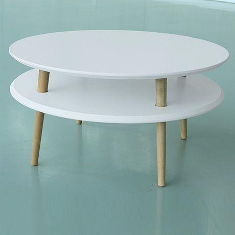 Niedriger Ufo Tisch - Weiß | RAGABA