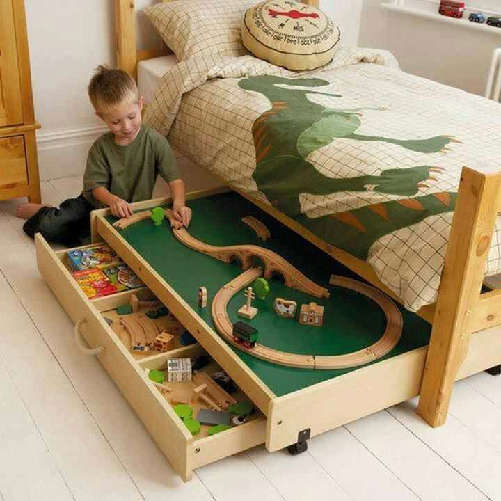 Under the bed storage for B