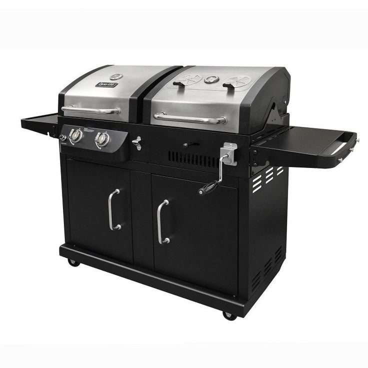Dyna-Glo DGB730SNB-D 2-Burner Stainless Steel Gas and Charcoal BBQ Grill - DGB730SNB-D