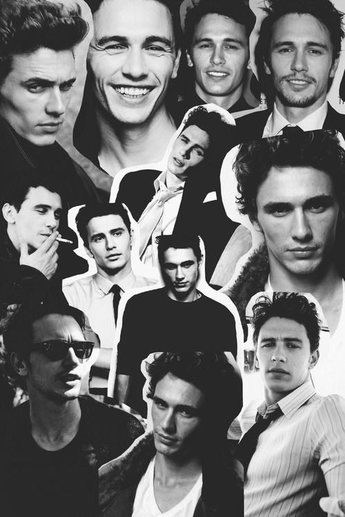 James Franco favorite celebrities pic collage black and white