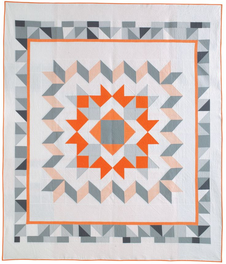 Tangerine quilt pattern by  Ginia Forrester.  In: Quilters Newsletter, June/July 2015.