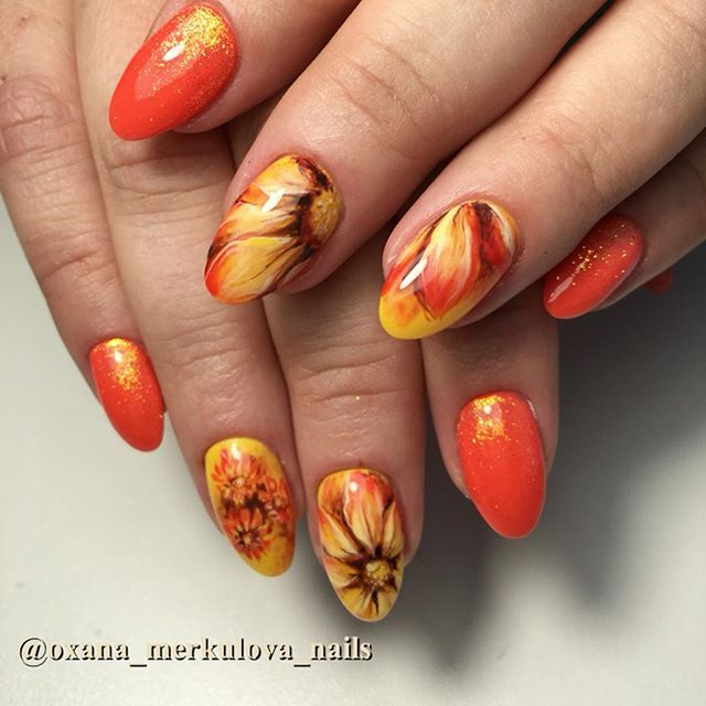 34 Beautiful Thanksgiving Nail Art Designs - All Day Fash - Best 25+ Thanksgiving Nail Art Ideas On Pinterest Thanksgiving