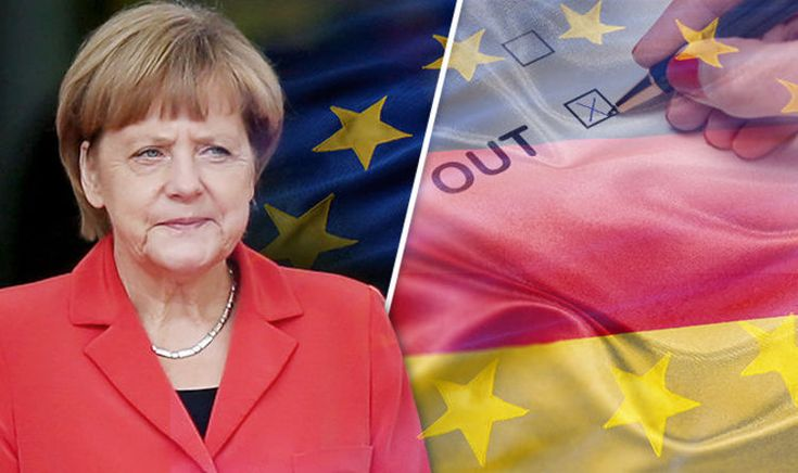 GEREXIT? Merkel in MELTDOWN as nearly HALF of Germans want .EU referendum, poll finds/16