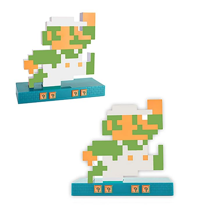 Nintendo Novelty Super Mario Retro Alarm Clock Luigi, White