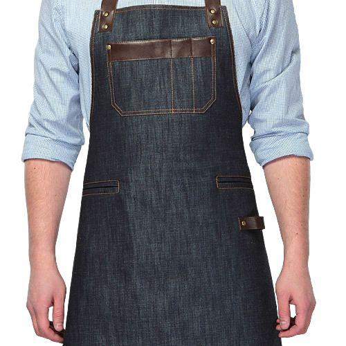 джинсовый фартук купить, фартук поварской, фартук с кожей