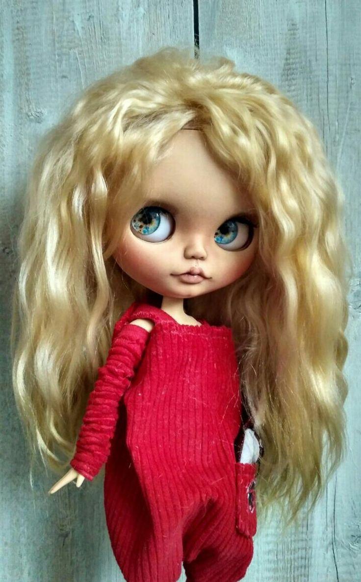 PESERV VITA Hanna Blythe custom ooak mohai weft ooak doll Custom Blythe doll collectible doll