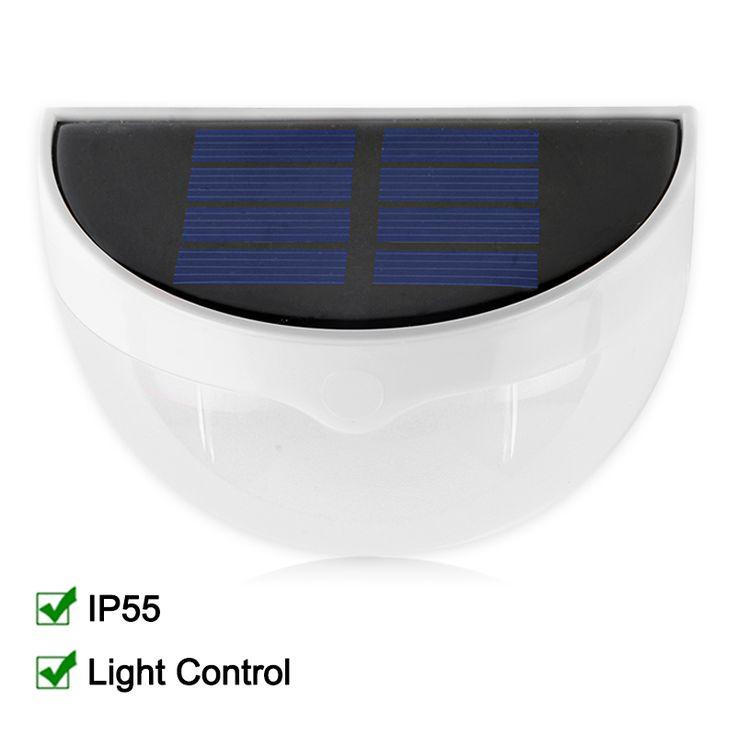 Impermeable IP55 LLEVÓ La Lámpara Solar Del Jardín de la Energía LED de Luz Solar Al Aire Libre Lámpara de Pared de la Energía Solar Para La Decoración de Jardín