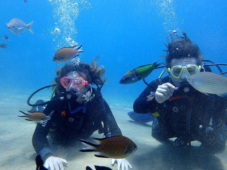 Exploring on the PADI Discover Scuba Diving with Manta Diving Lanzarote in the Canary Islands