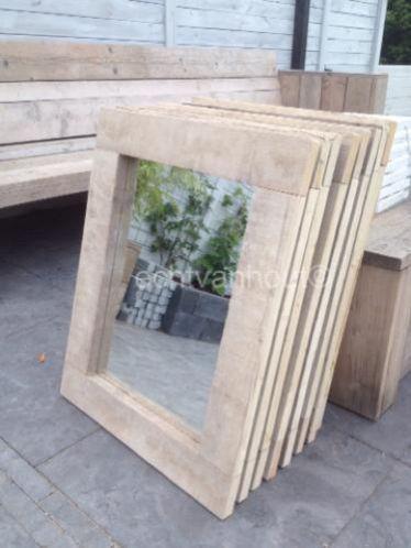 Grote spiegels van oud gebruikt steigerhout marktplaats for Marktplaats spiegel
