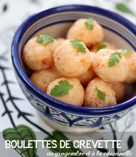 –   Pour changer des cacahuètes et des chips à l'apéro, optons pour la légèreté avec ces boulettes de crevette à la vapeur! …