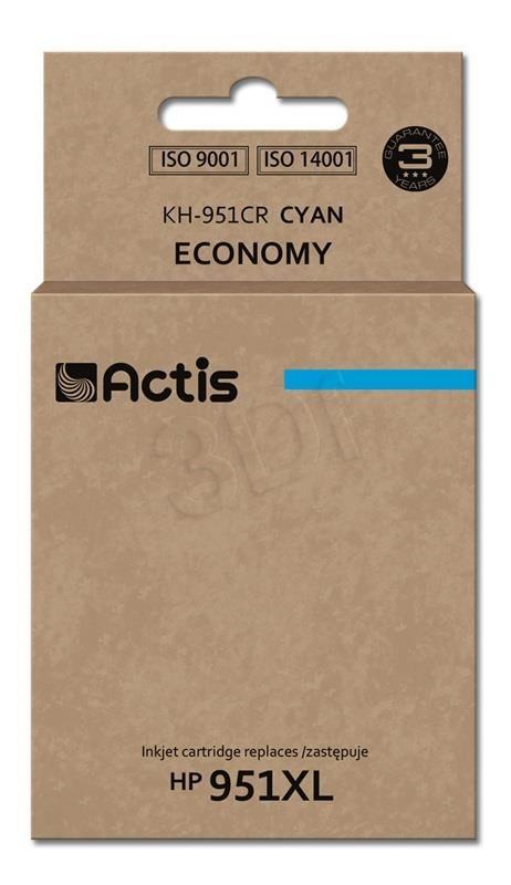 TUSZ ACTIS KH-951CR (DO DRUKARKI HEWLETT PACKARD, ZAMIENNIK HP 951XL CN046AE STANDARD 25ML CYAN CHIP)