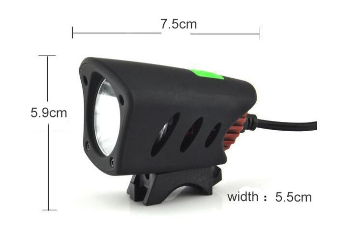 Dual Interface T6 LED IPX65 Waterproof Bike Light Rechargeable HeadLamp 800 Lumens Cycling Light Sale - Banggood.com