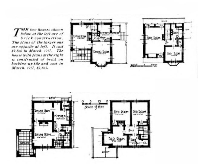 Historic 1917 Goodyear Heights Akron Ohio House Plans For 2 Types Of Homes Phase Ii Architect George H Schwann Of Ohio House Ohio History Types Of Houses