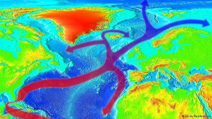 Der Golfstrom bringt warmes Wasser von Florida nach Europa