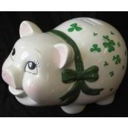 Irish Piggy Bank and save for St.Patrick's Day Green Beer Party.