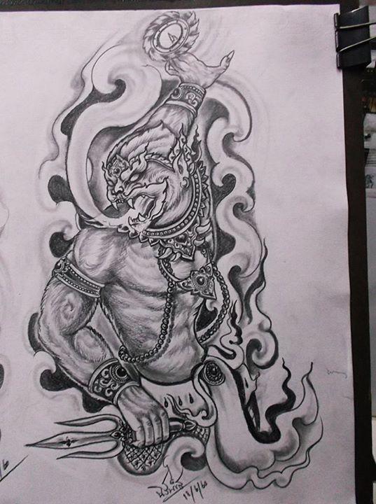 Thai Hanuman Tattoo Designs
