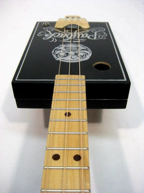 The Big Payback 3 string cigar box guitar Maple Neck with Maple Fretboard