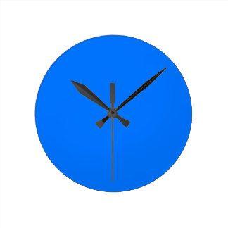 Blue Round Clock