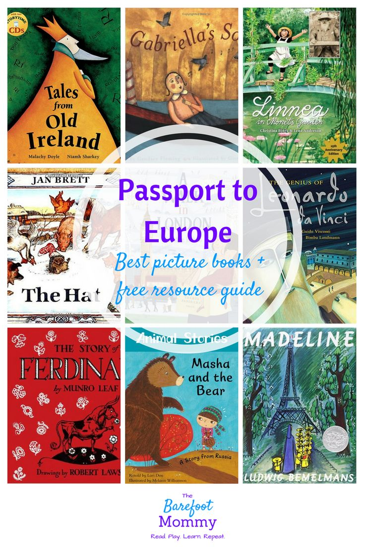 Take your child on a global journey with picture books set in Europe. These books will help your child sample folktales, art, music, and culture from Ireland, England, France, Italy, Spain, Russia, and more. Includes a free resource pack for raising kids who are little global citizens.