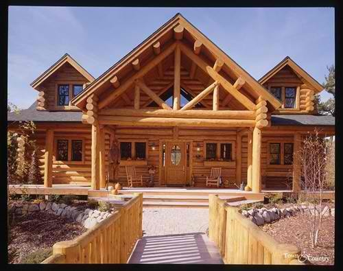 Exterior Log Trusses Make This Porch Look Like A Great