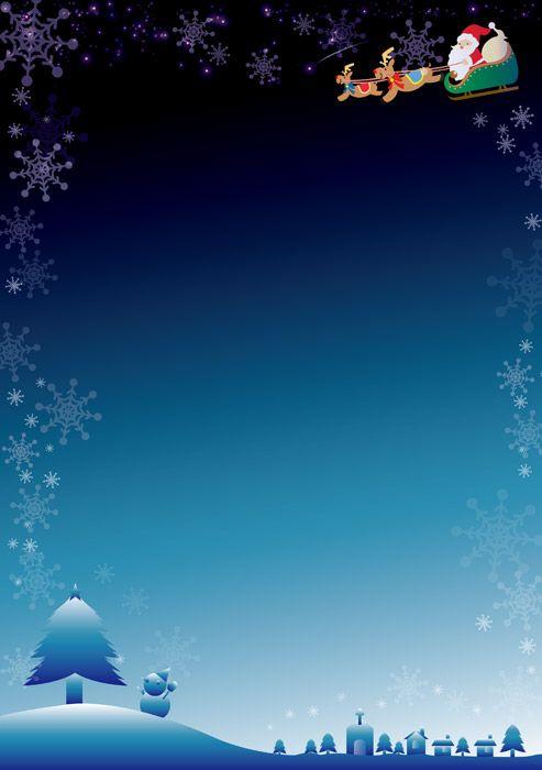 [無料イラスト] トナカイとサンタと雪景色のクリスマスフレーム #クリスマス #Christmas