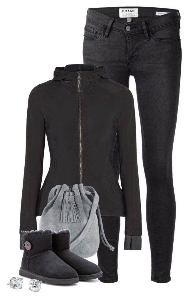 """""""Adidas Stella McCartney jacket x UGG mini boots"""" by elegantlyunamused ❤ liked on Polyvore featuring Frame Denim, adidas, Warehouse, UGG Australia and Blue Nile"""