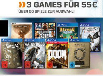 Saturn: 3 Games 55 Euro bis Montag morgen https://www.discountfan.de/artikel/technik_und_haushalt/saturn-3-games-55-euro-bis-montag-morgen.php Bei Saturn sind ab sofort und nur bis kommenden Montag morgen drei Games nach Wahl für 55 Euro zu haben. Mit dabei sind Spiele für PS4, XBOX und PC. Saturn: 3 Games nach Wahl für 55 Euro bis Montag morgen Die Drei Games nach Wahl für 55 Euro sind ab sofort und nur bis zum 16. Januar 2017 um neun ... #Games, #Konsole, #Spiele