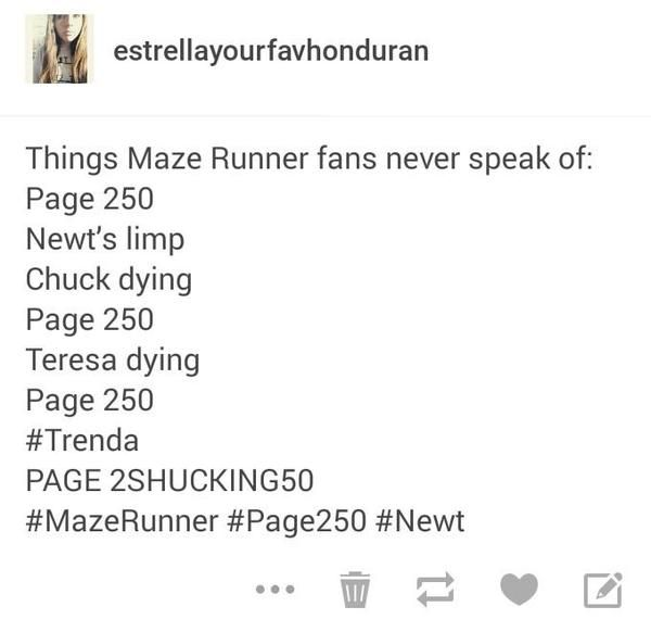 Most painful things in The Maze Runner series... :'( :'( :'(