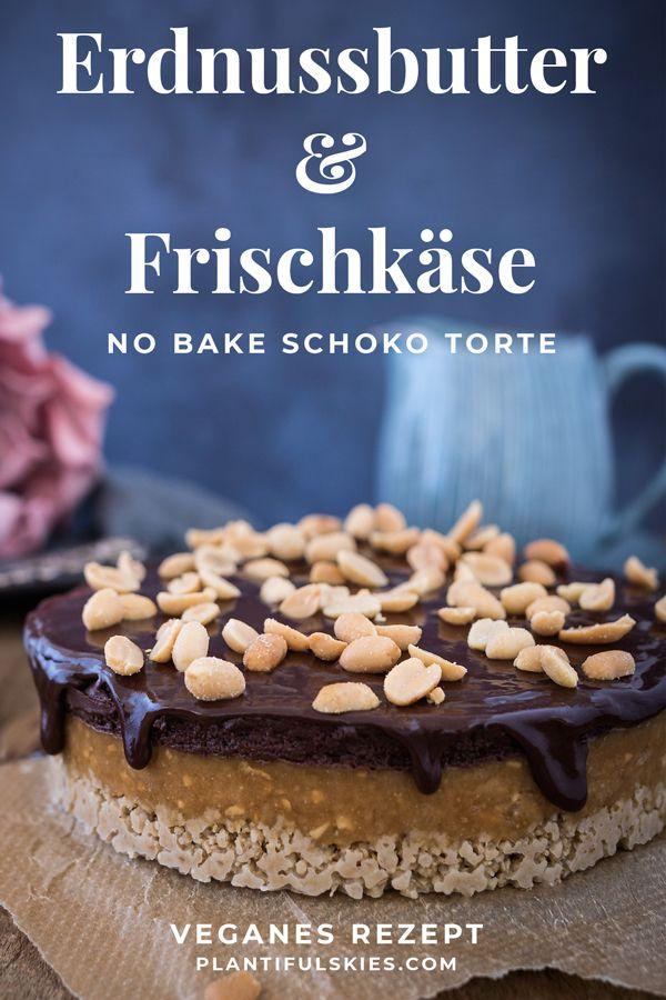 No Bake Erdnussbutter Frischkase Kuchen Rezept Rezepte
