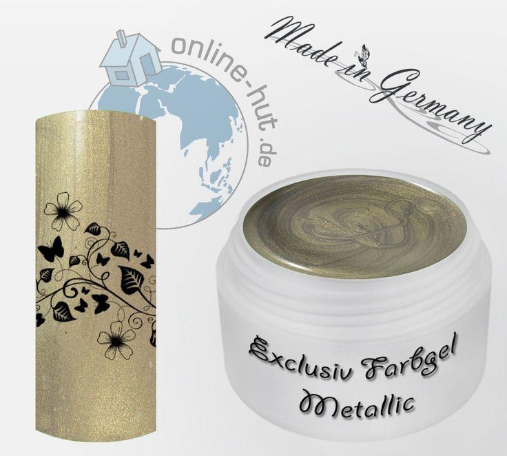 5ml UV Exclusiv Farbgel Neu Golden Braun Metallic