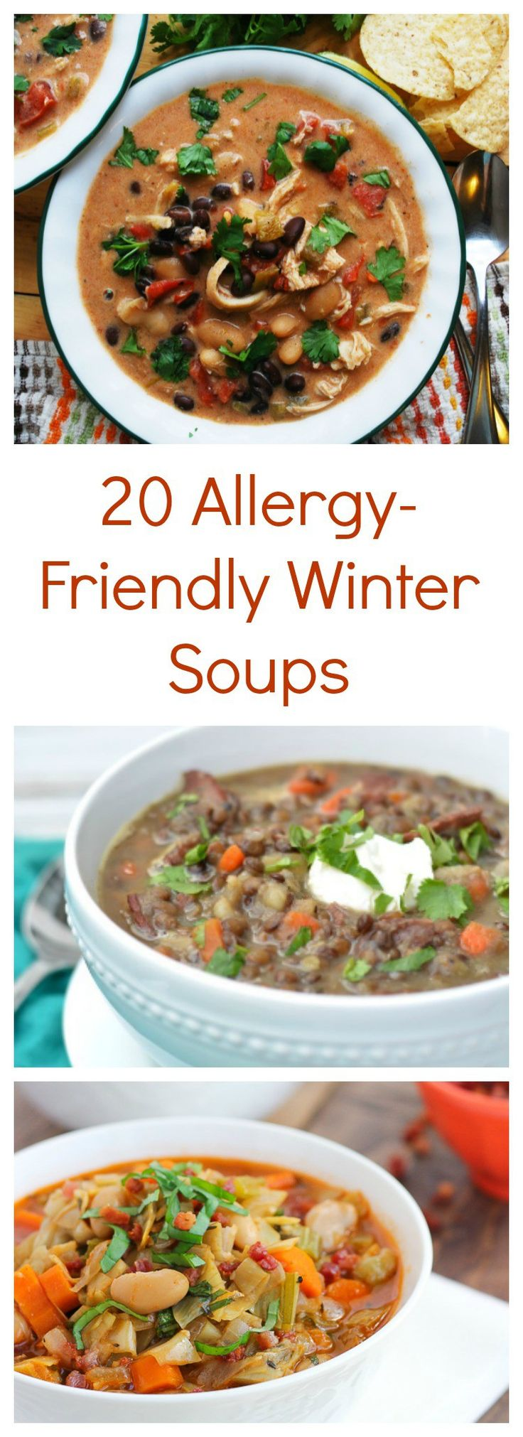 20 Allergy-Friendly Winter Soups via @allergyawesome