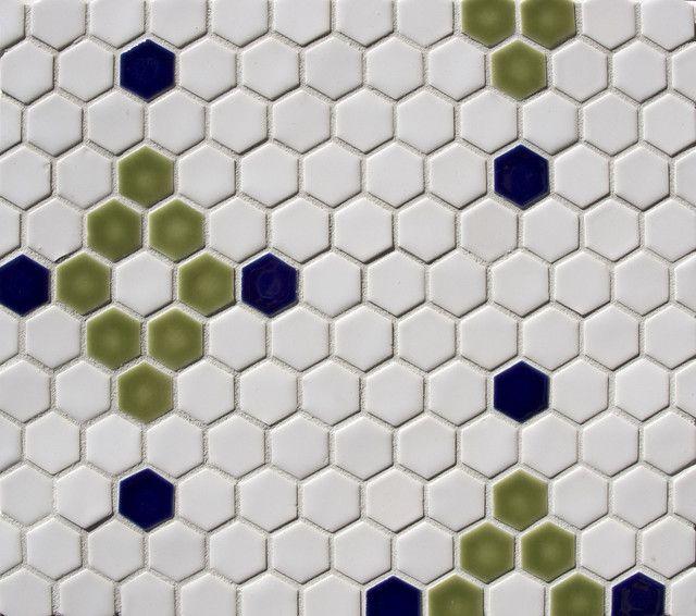 hexagon pattern traditional bathroom tile portland by pratt and larson ceramics