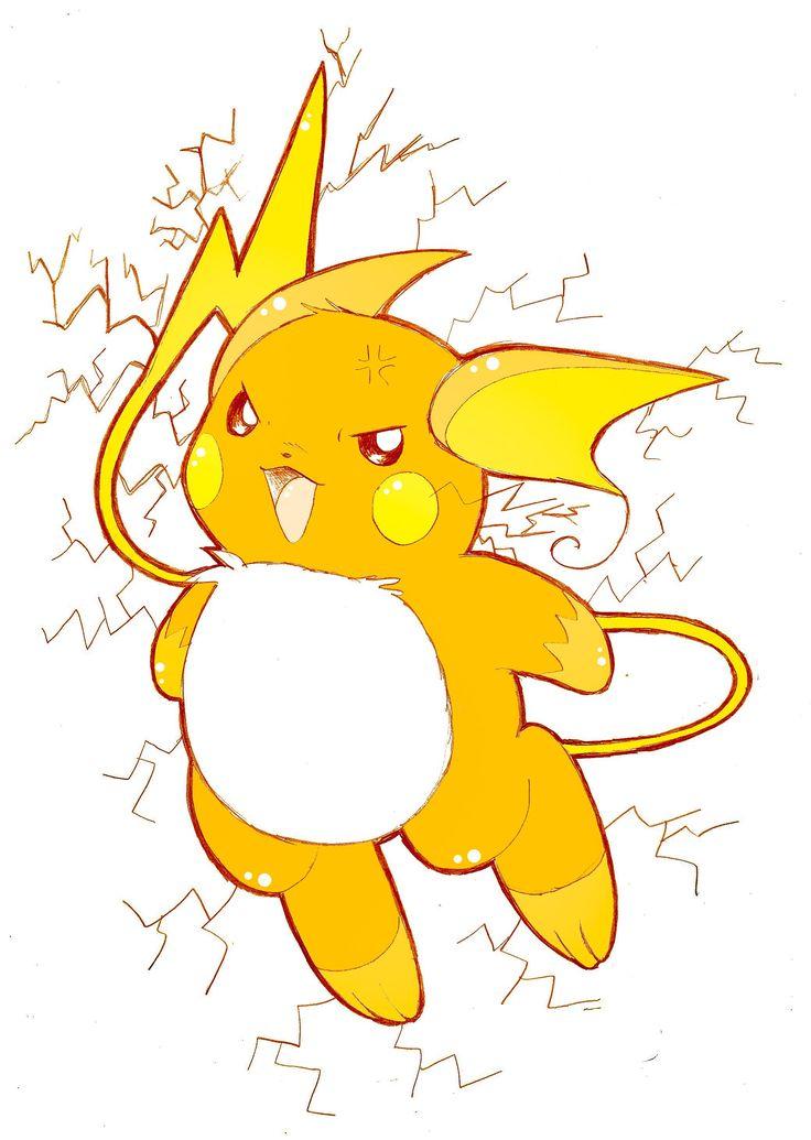 Raichu (With images) | Raichu, Pokemon, Pikachu Pichu Pikachu Raichu Rap