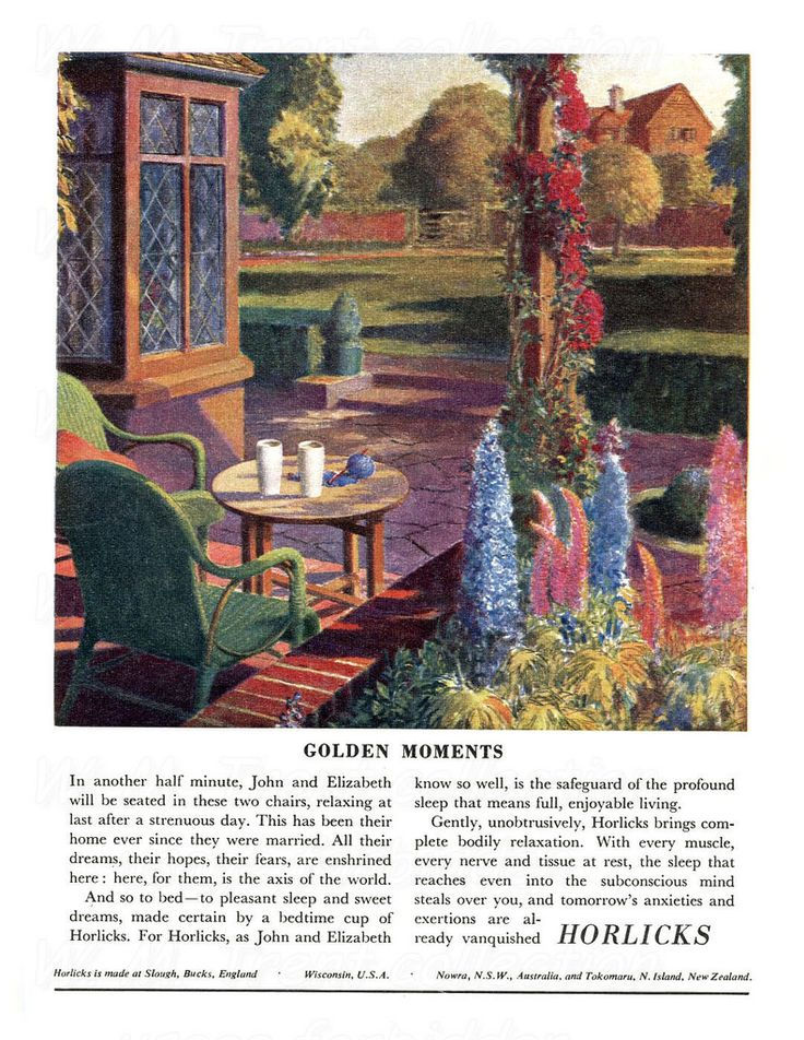 From the Festival of Britain 1951 an advertisement for Horlicks.