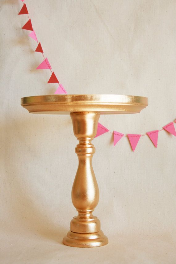 Inexpensive Gold Cake Stands